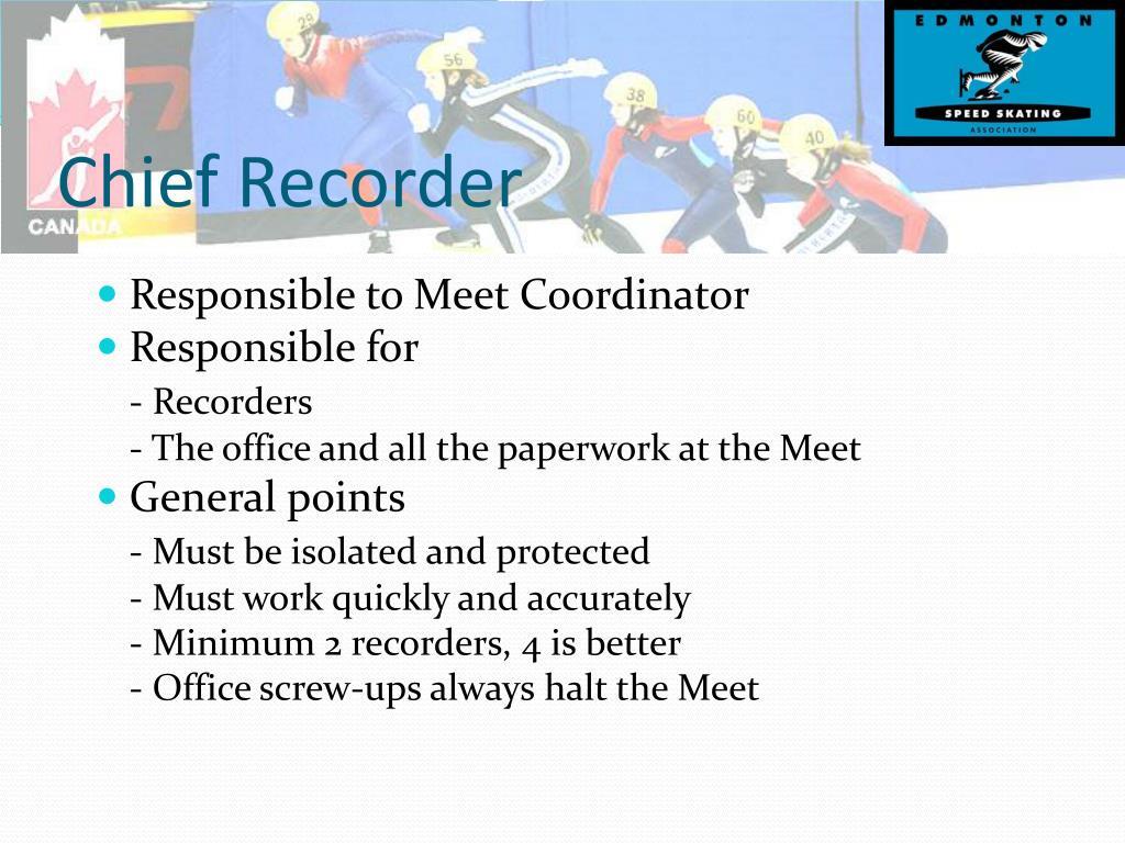 Chief Recorder