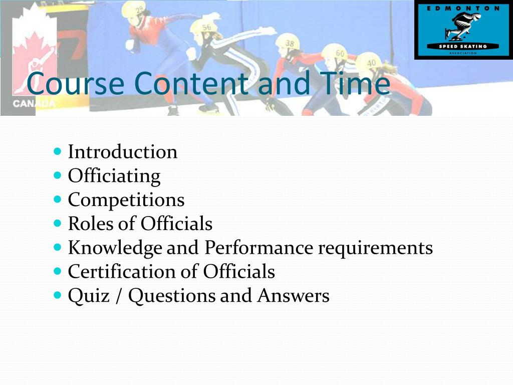 Course Content and Time