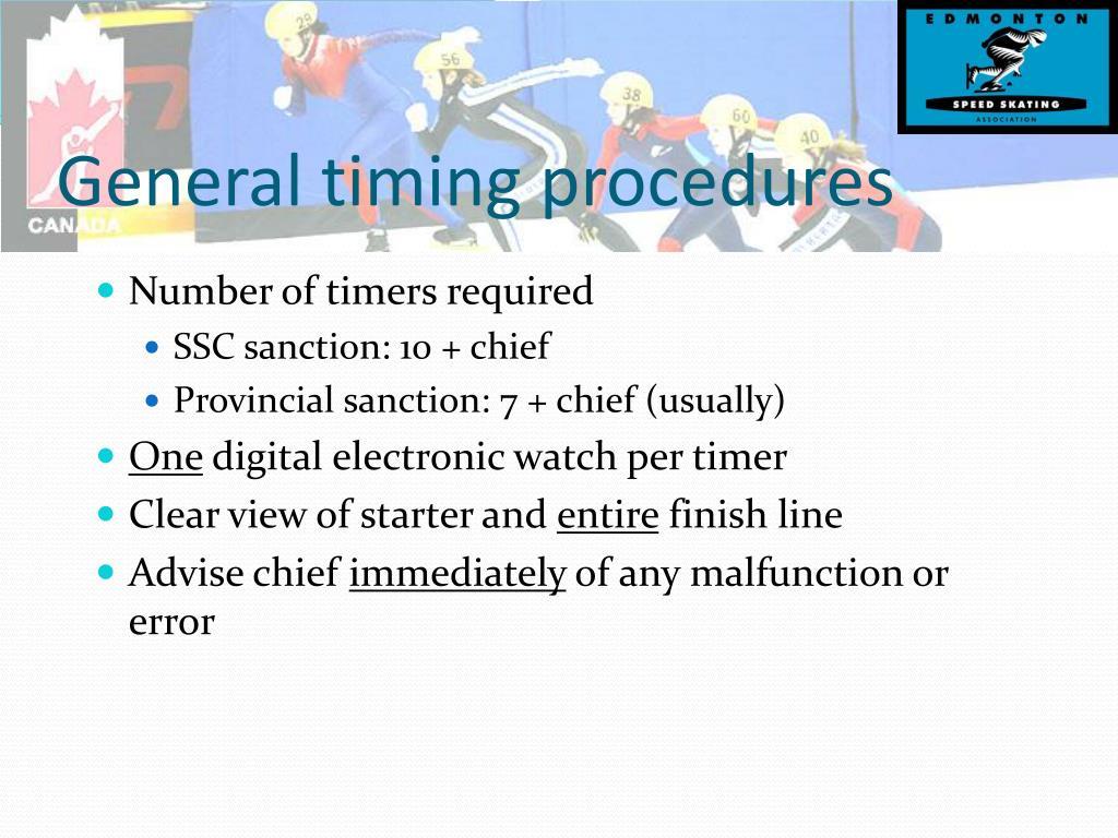 General timing procedures