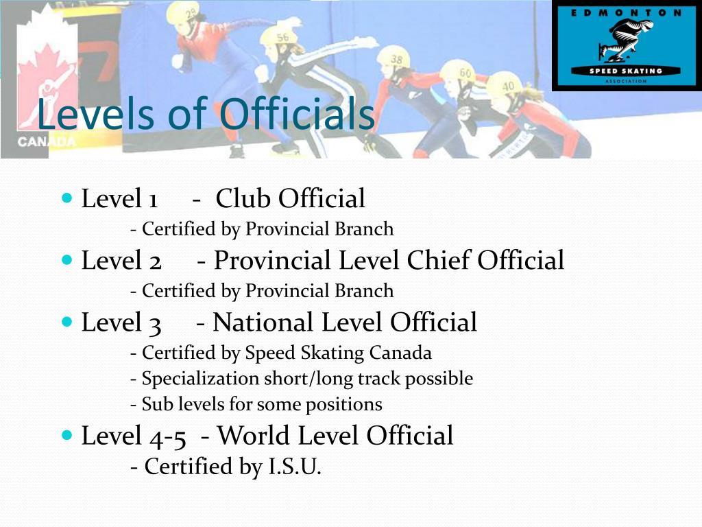 Levels of Officials