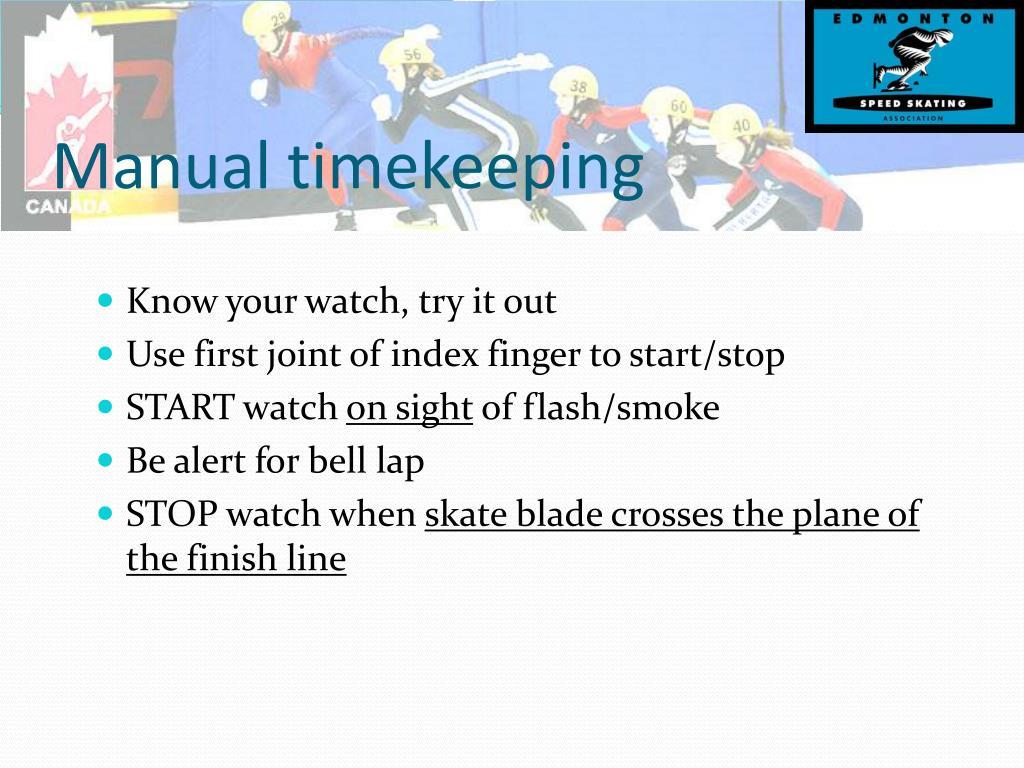 Manual timekeeping