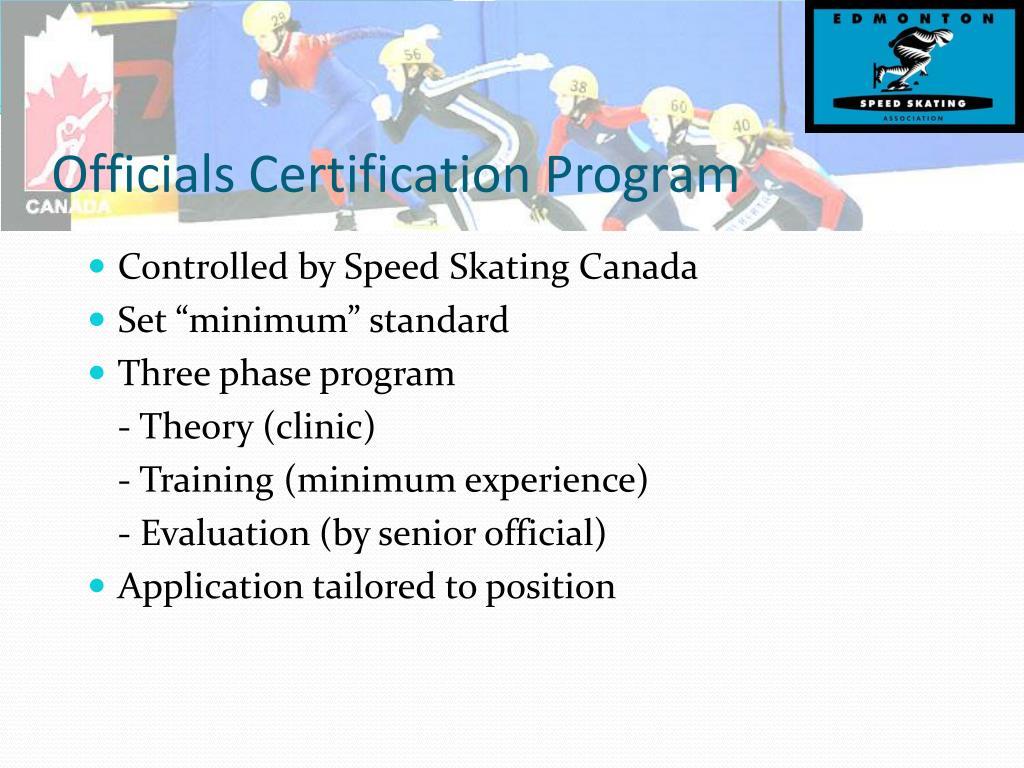 Officials Certification Program