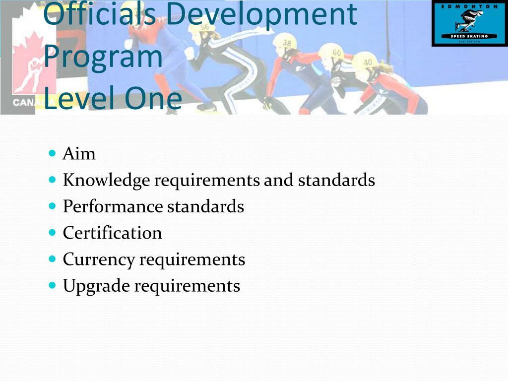 Officials Development Program