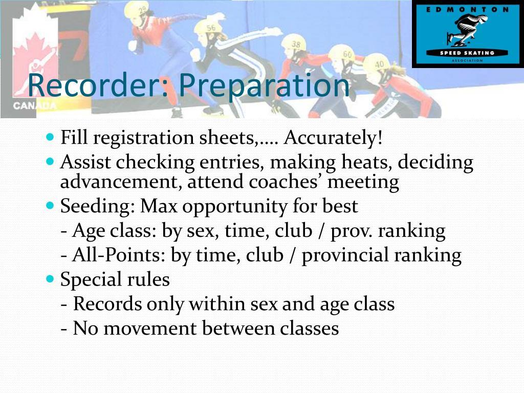 Recorder: Preparation