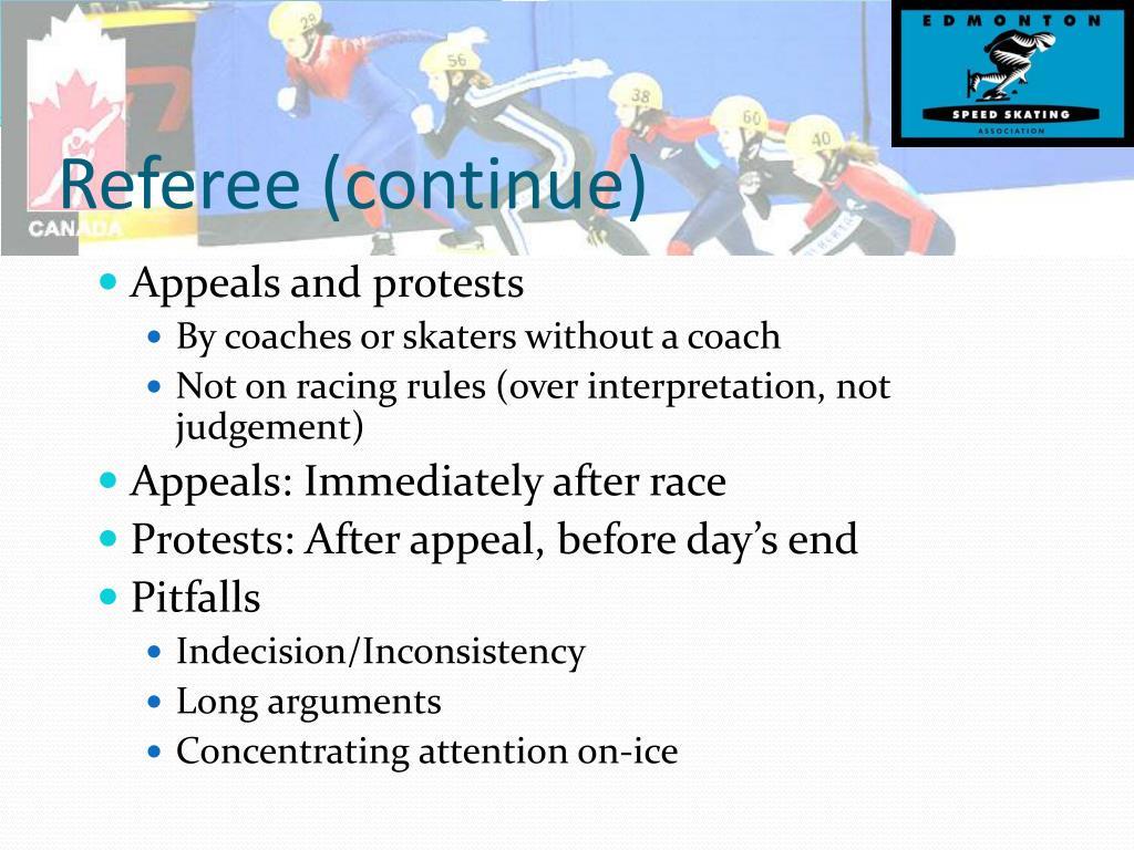 Referee (continue)