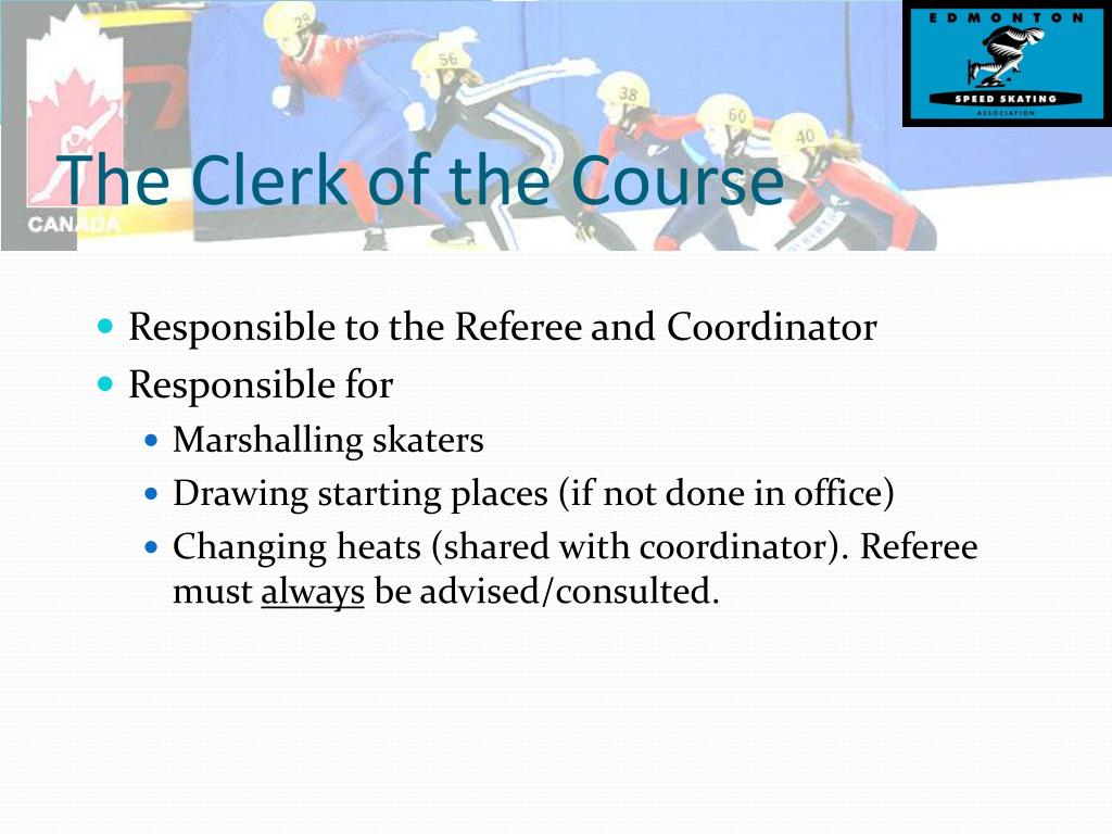 The Clerk of the Course
