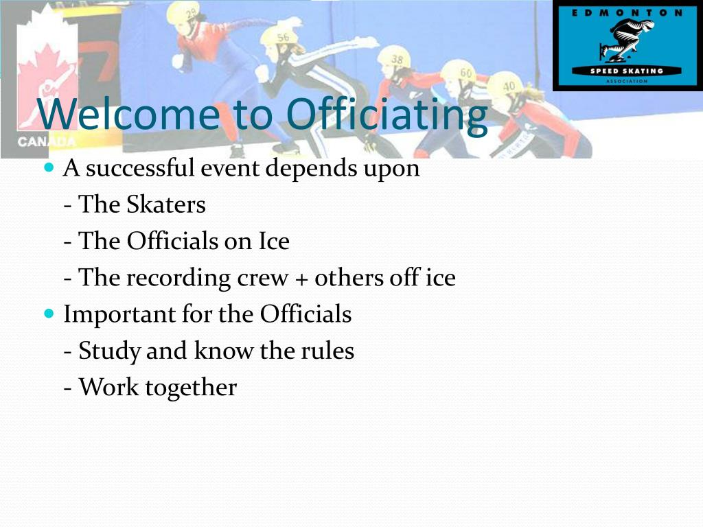 Welcome to Officiating