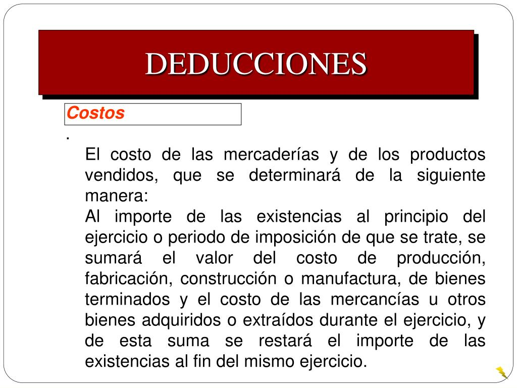 DEDUCCIONES