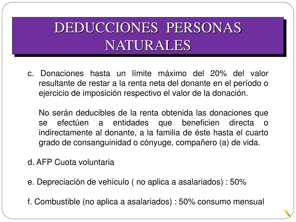 DEDUCCIONES  PERSONAS NATURALES