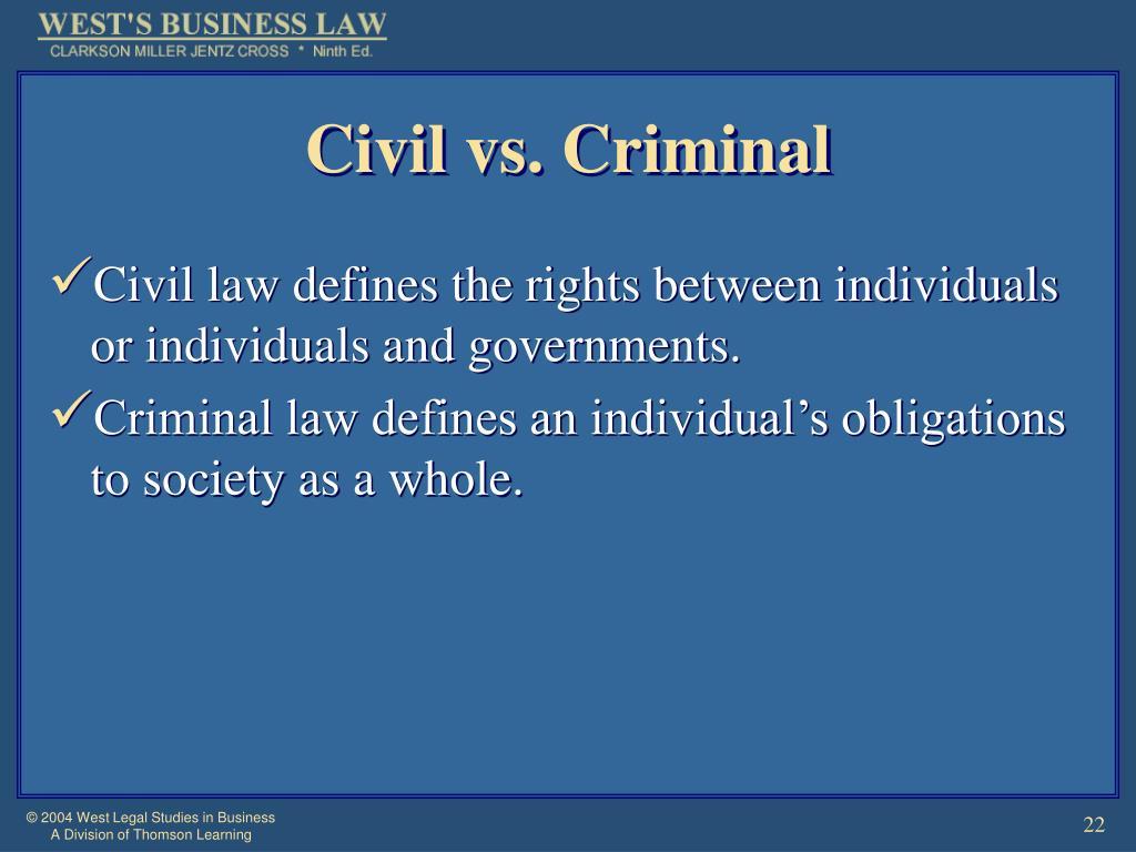 Civil vs. Criminal