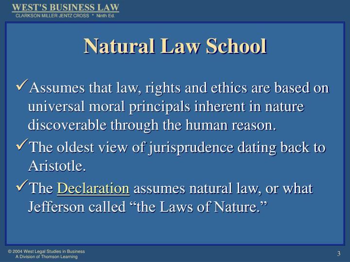 Natural law school