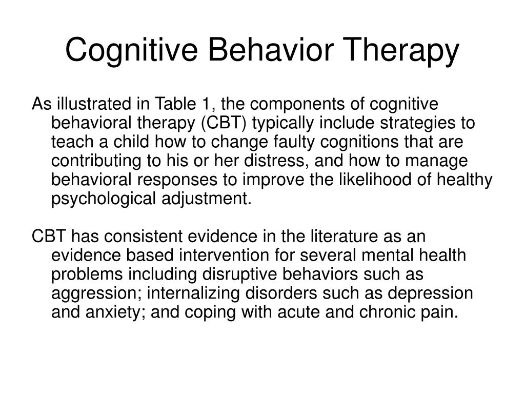 Cognitive behavioral therapy ppt video online download.