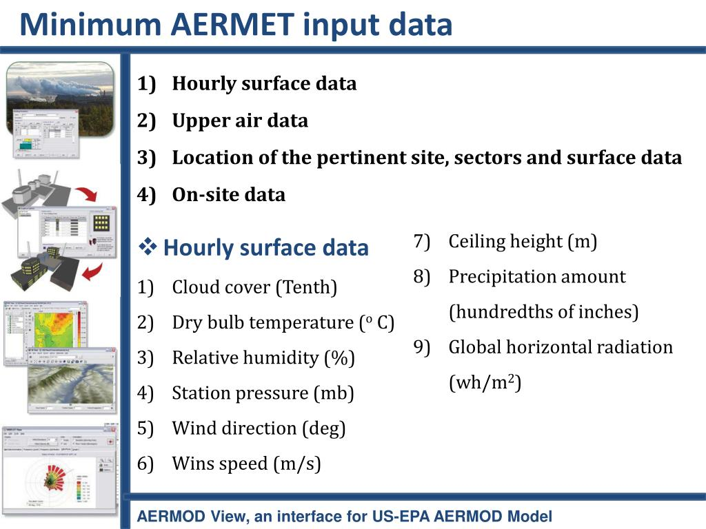 Minimum AERMET input data
