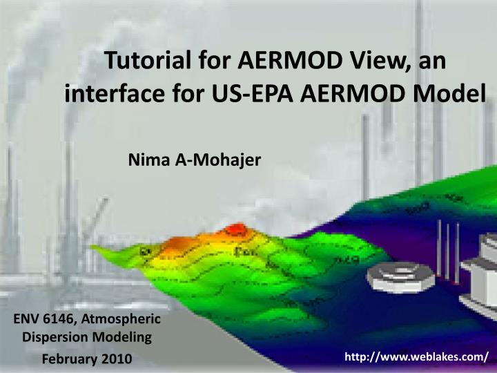 Tutorial for aermod view an interface for us epa aermod model