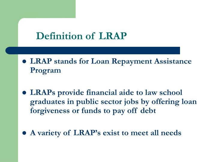 Definition of lrap