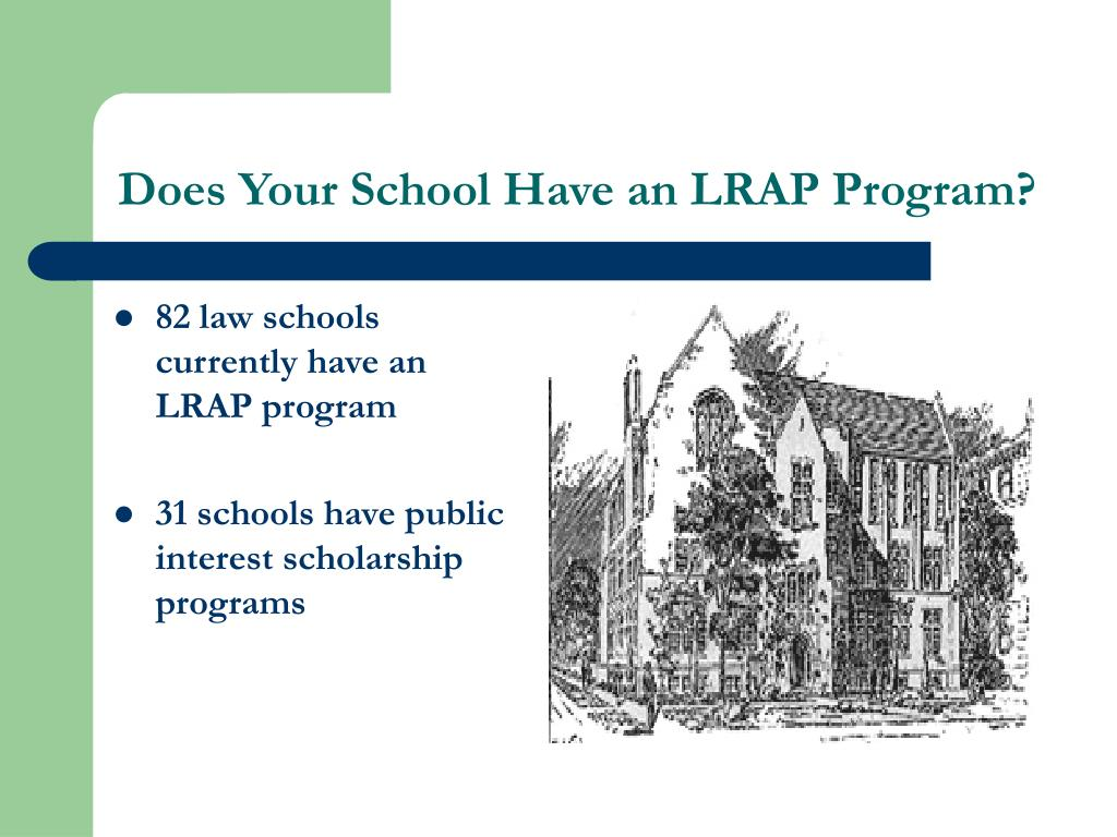 82 law schools currently have an LRAP program