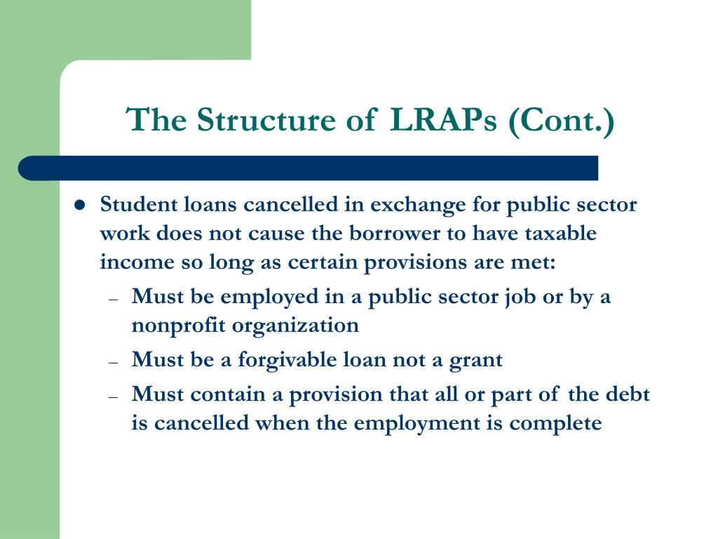 The Structure of LRAPs (Cont.)