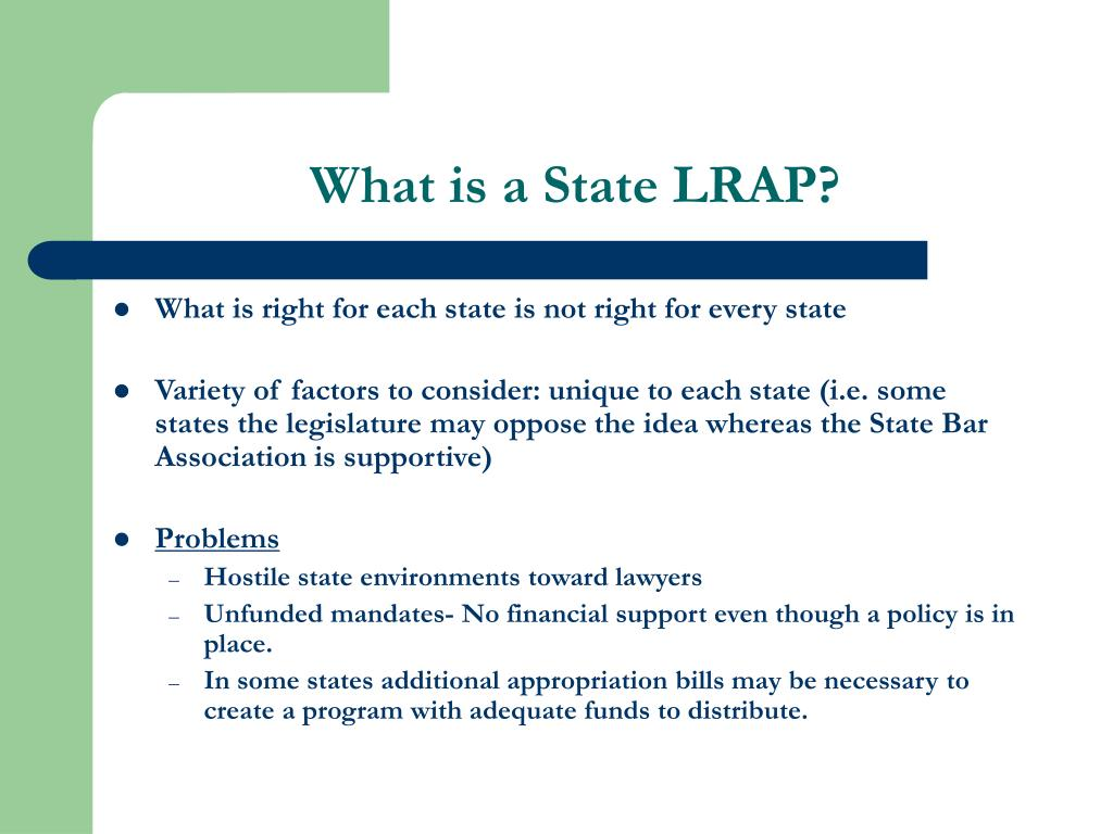 What is a State LRAP?