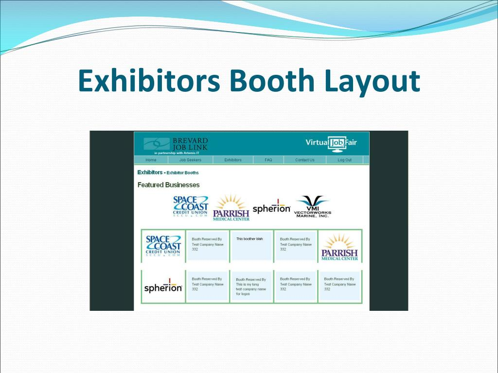 Exhibitors Booth Layout