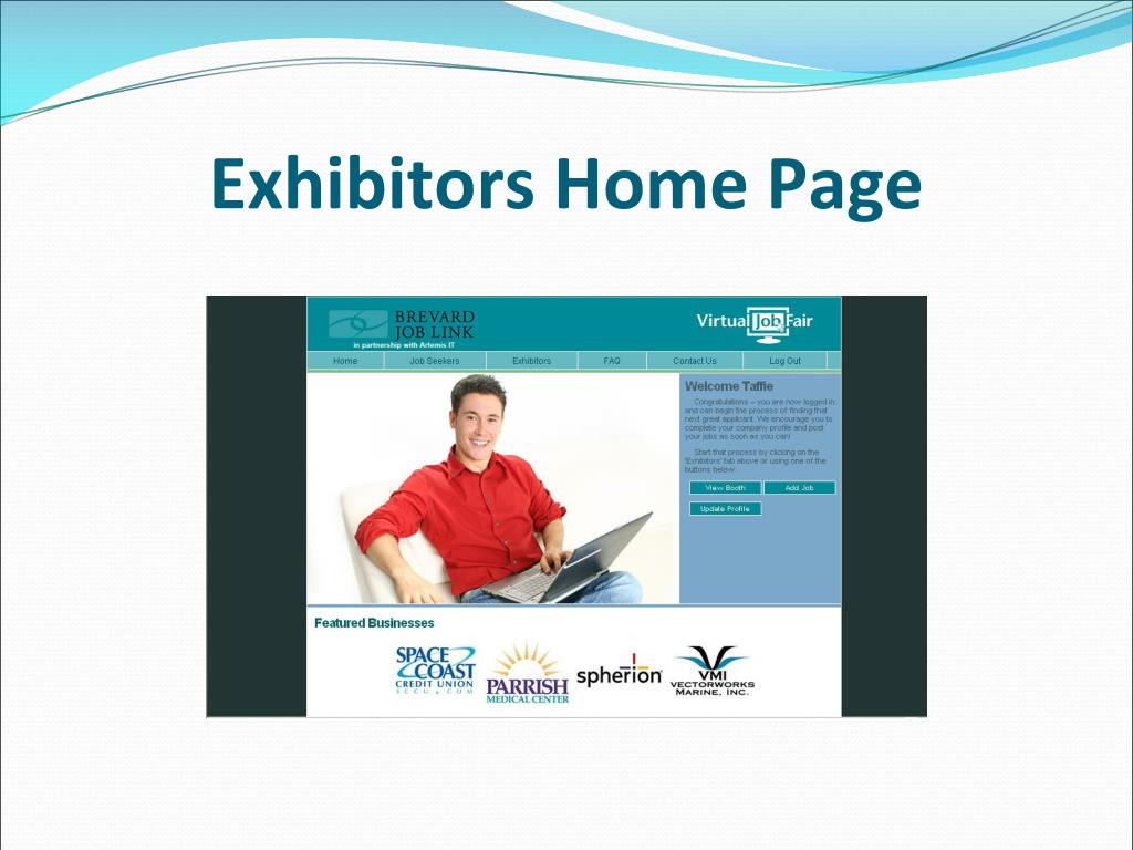 Exhibitors Home Page