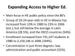 expanding access to higher ed