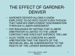the effect of gardner denver