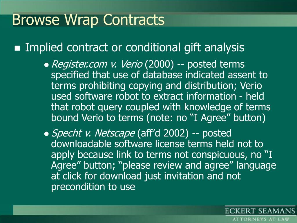 Browse Wrap Contracts