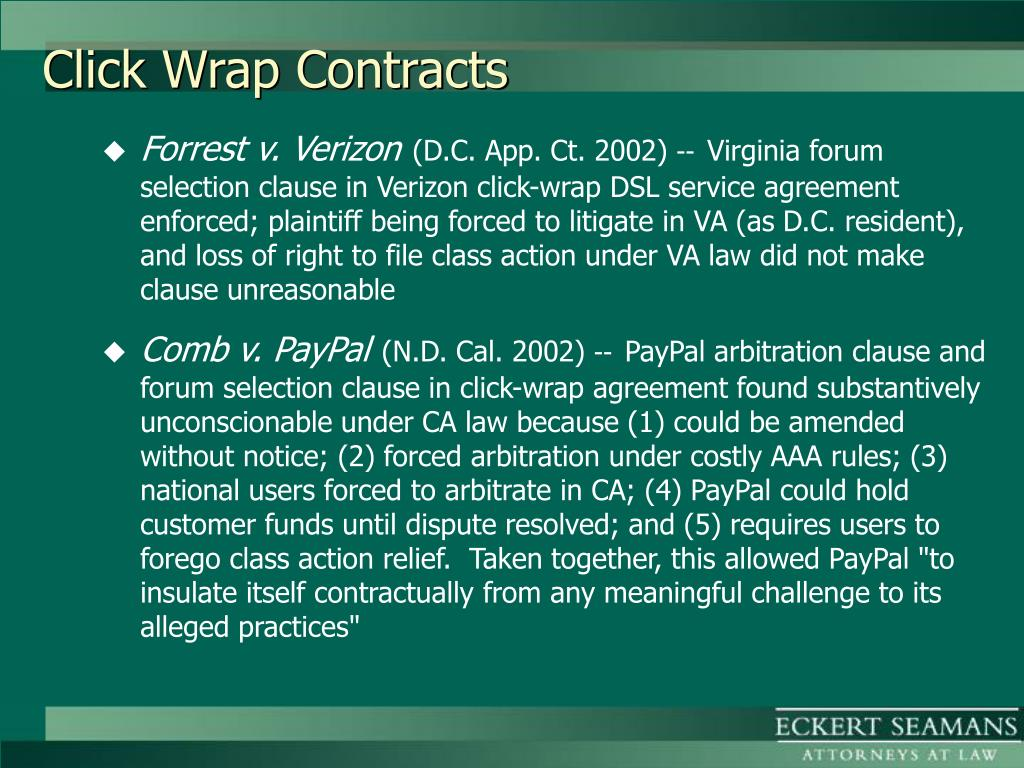 Click Wrap Contracts