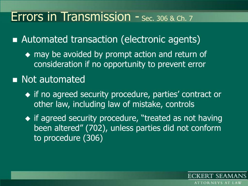 Errors in Transmission -