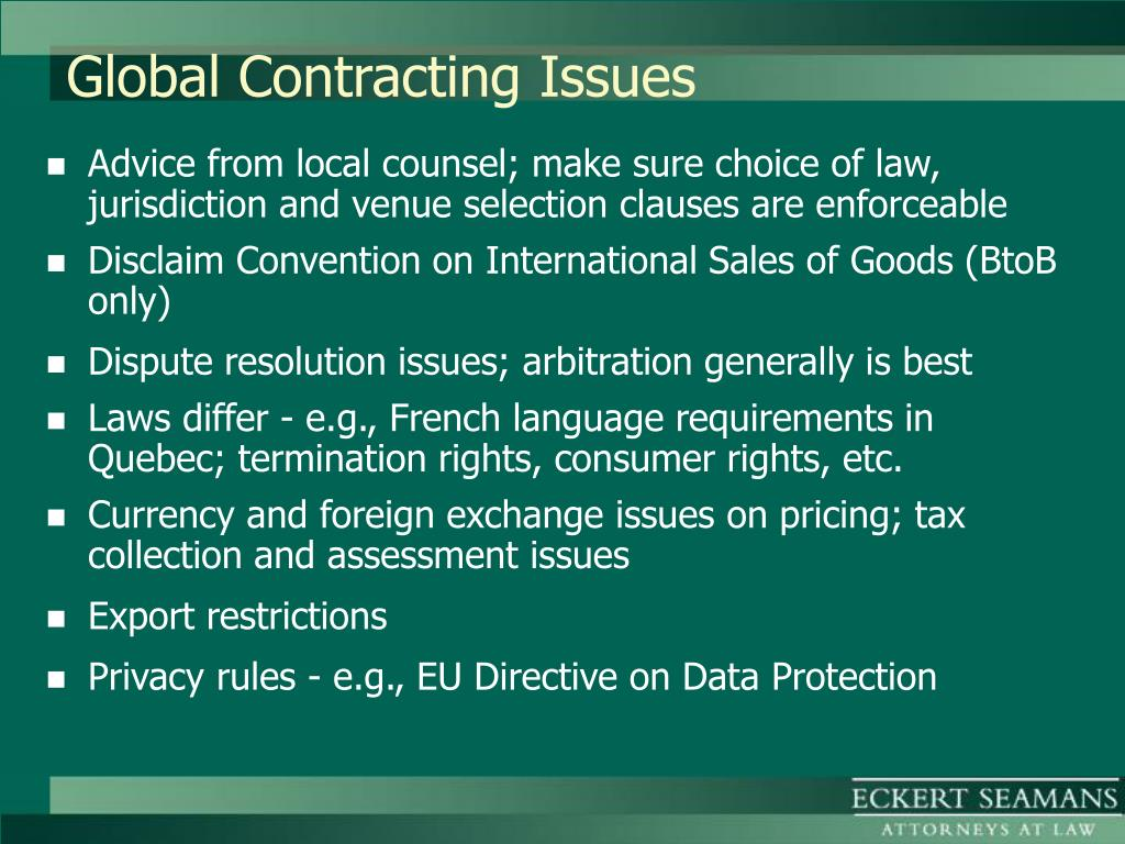 Global Contracting Issues