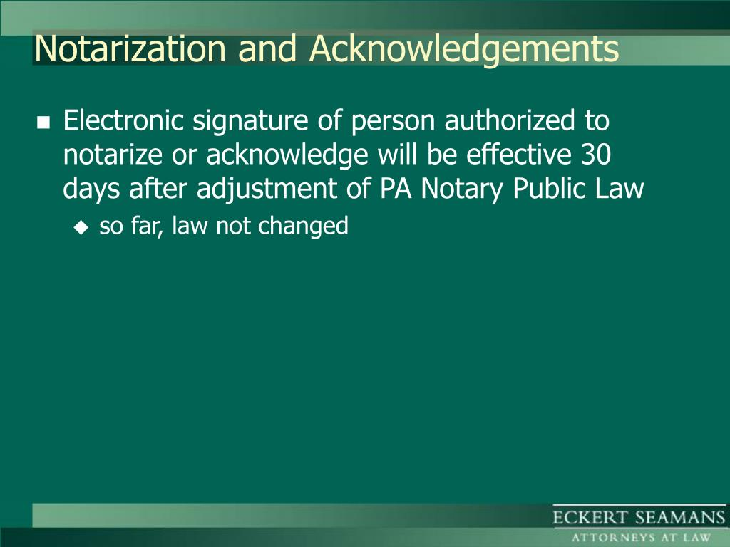 Notarization and Acknowledgements
