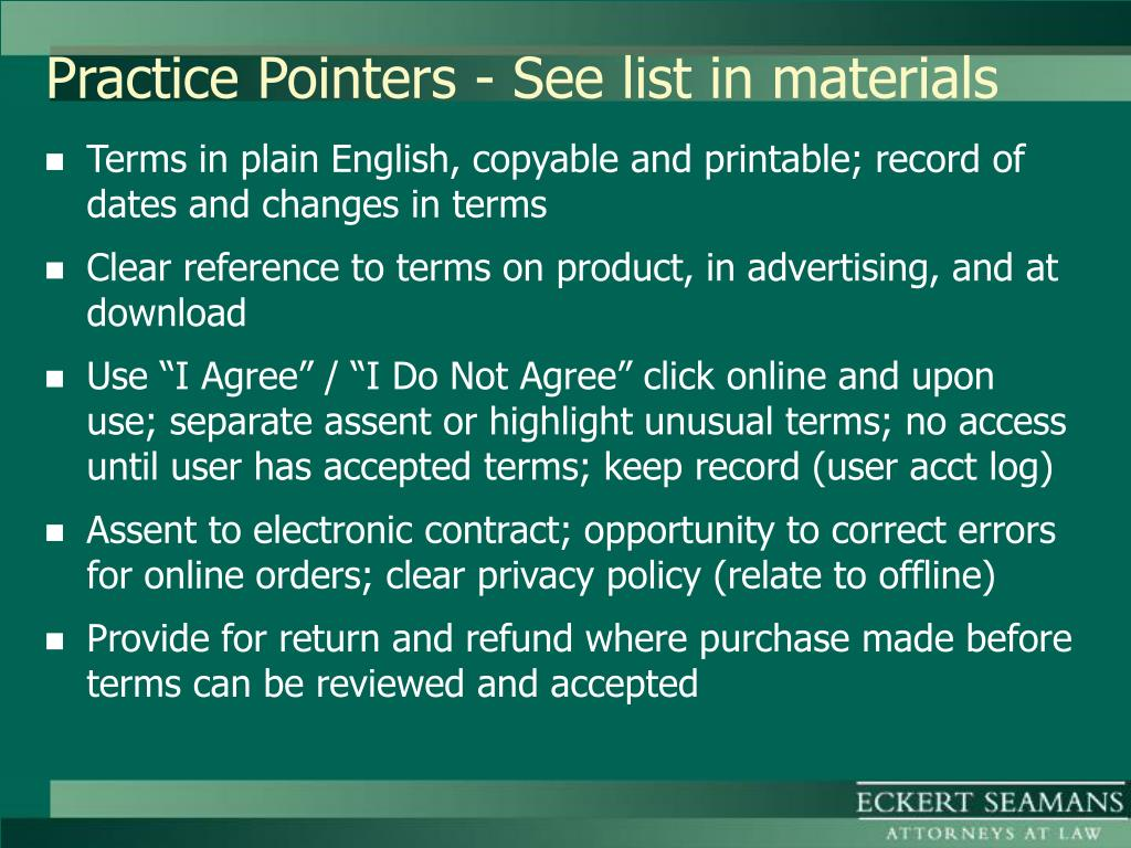 Practice Pointers - See list in materials