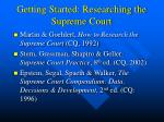 getting started researching the supreme court