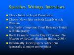 speeches writings interviews
