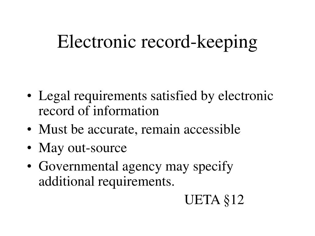 Electronic record-keeping