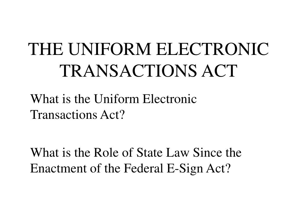 the uniform electronic transactions act l.