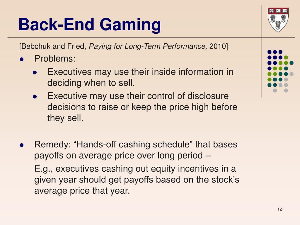 Back-End Gaming