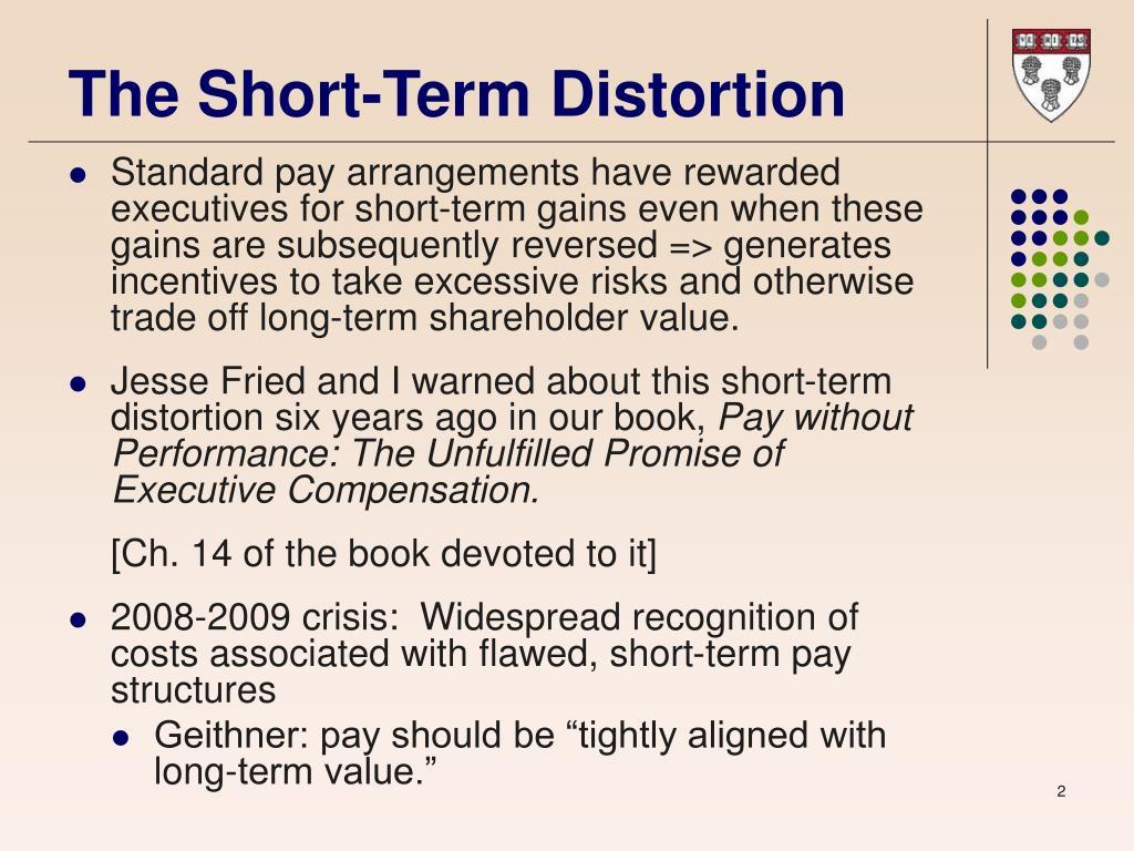 The Short-Term Distortion