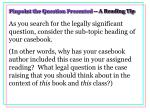 pinpoint the question presented a reading tip