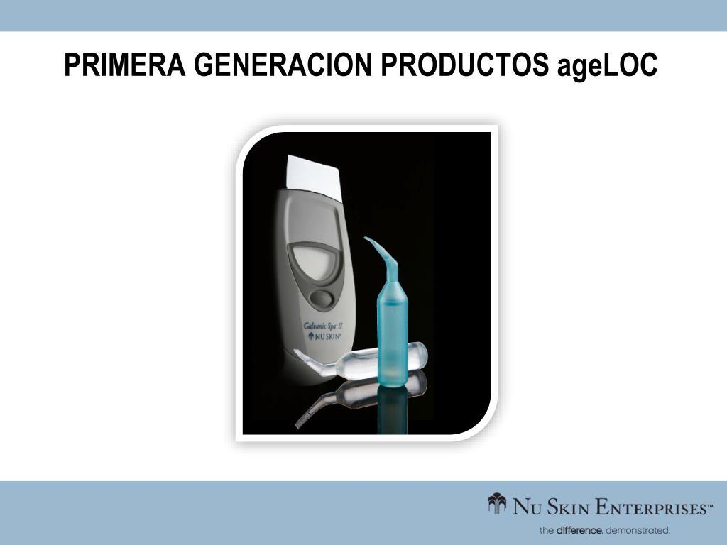 PRIMERA GENERACION PRODUCTOS ageLOC