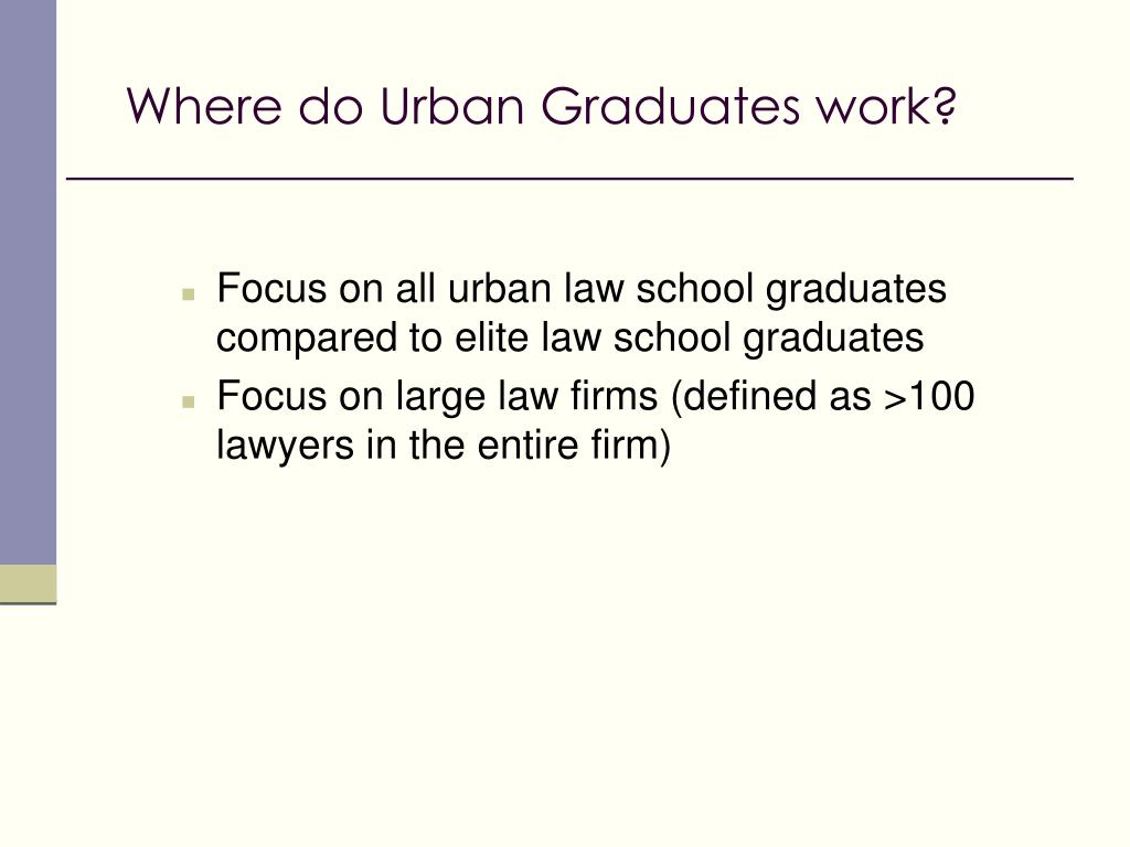 Where do Urban Graduates work?