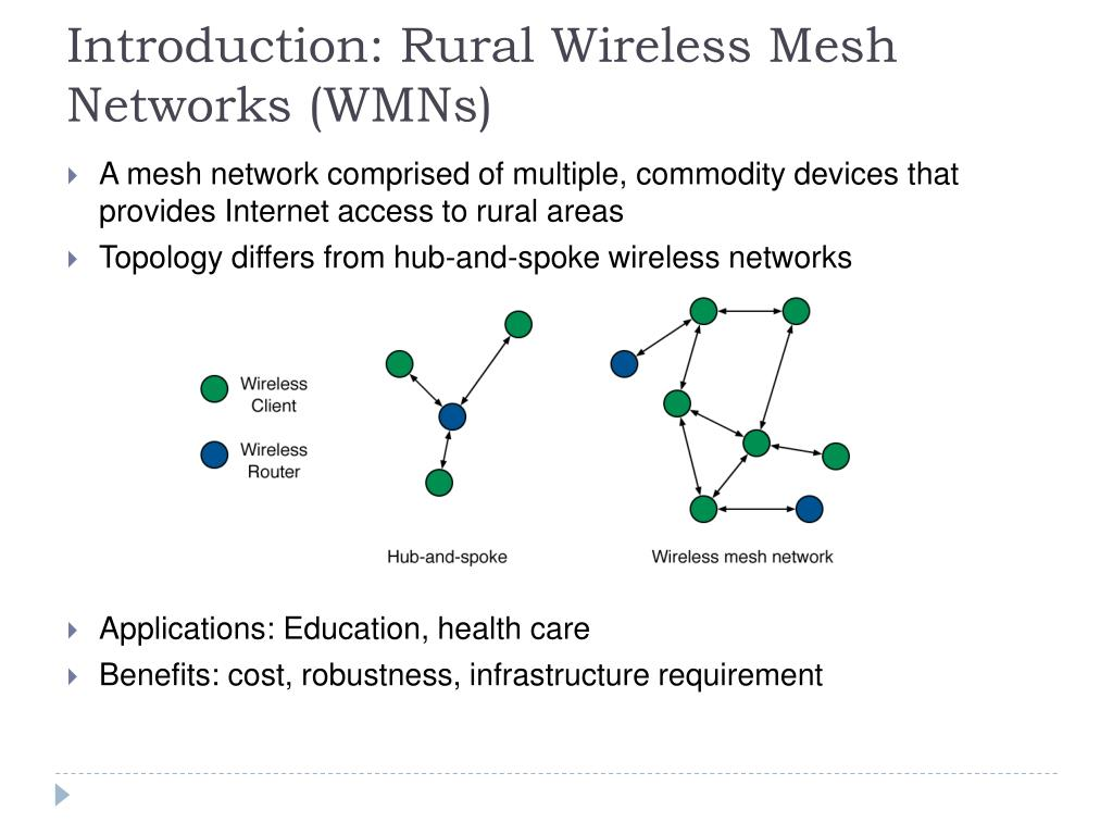 Introduction: Rural Wireless Mesh Networks (WMNs)