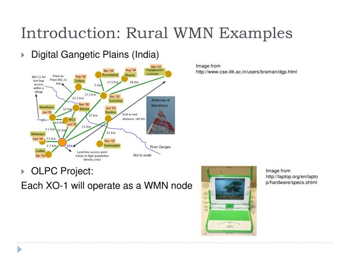 Introduction: Rural WMN Examples