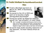 dr fredric wertham the most influential comic book villain