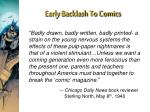 early backlash to comics