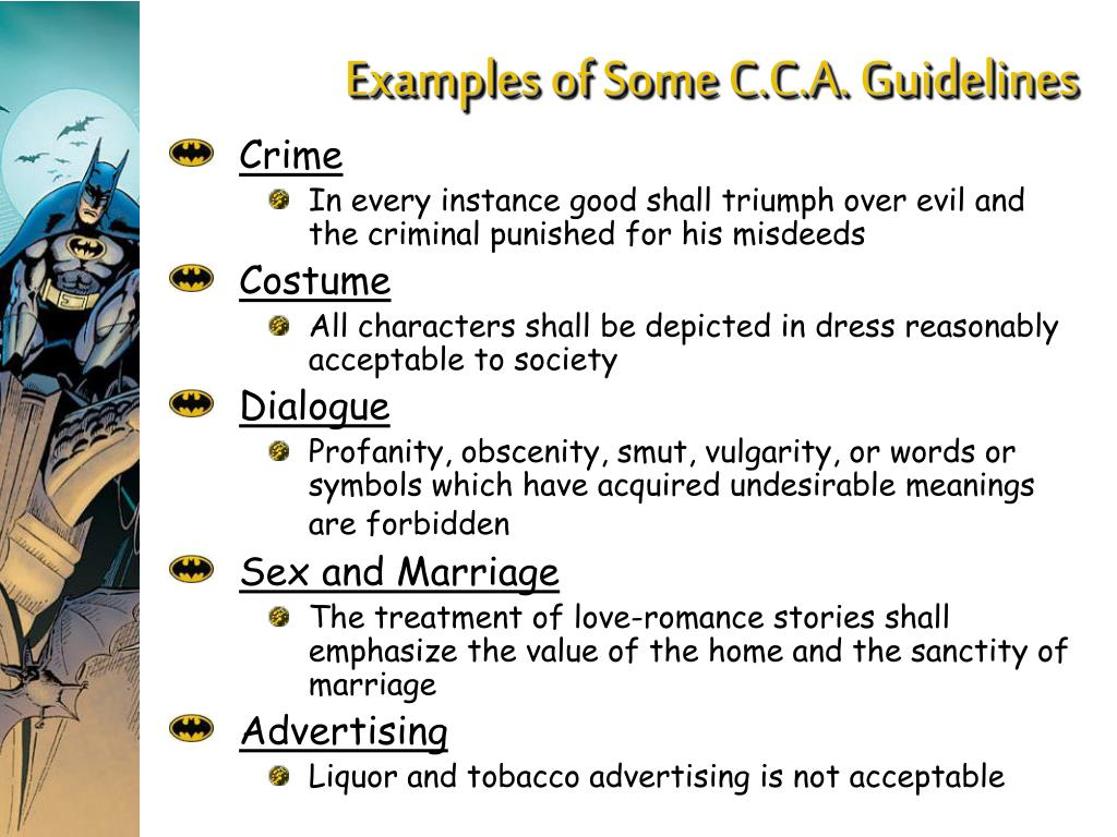 Examples of Some C.C.A. Guidelines