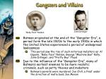 gangsters and villains