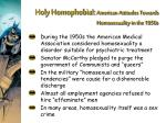 holy homophobia american attitudes towards homosexuality in the 1950s