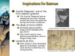 inspirations for batman