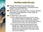 wertham makes his case